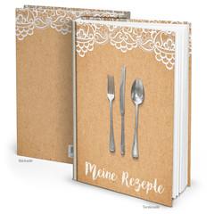 Kochbuch - eigene Rezepte sammeln: Buch isoliert Rezeptbuch