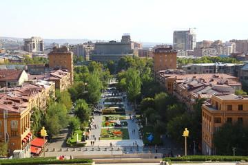 Blick von der Kaskade in Jerewan-Armenien