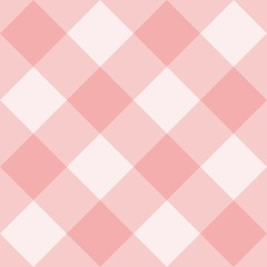 Seamless pink and white vector background - checkered pattern or grid texture for web design, desktop wallpaper or culinary blog website