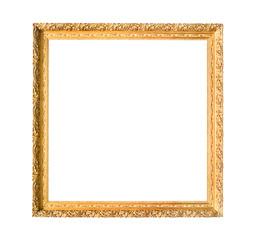 Obraz square carved narrow wooden painting frame - fototapety do salonu