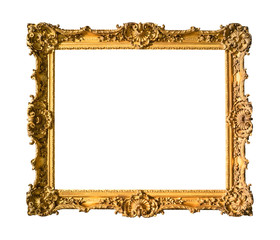 ancient wide ornamental baroque painting frame