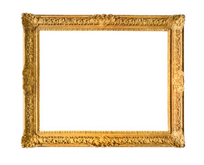 old wide carved decorated painting frame