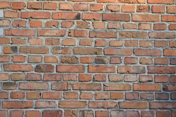 Spoed Foto op Canvas Baksteen muur Old wall made of red bricks
