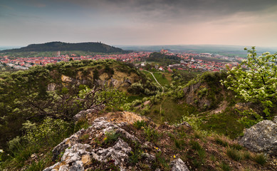 Town of Mikulov, Czech Republic as Seen from Rocks of Back Quarry (Zadní lom)