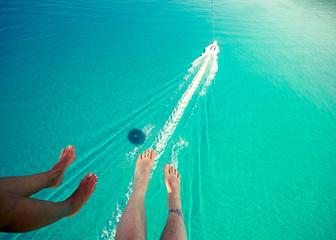 Türaufkleber Reef grun parasailing