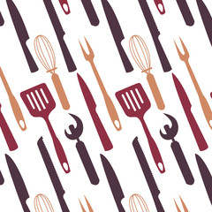 Pattern image with kitchen appliances