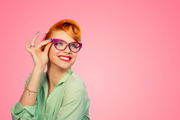 Headshot Attractive Young Woman With Glasses