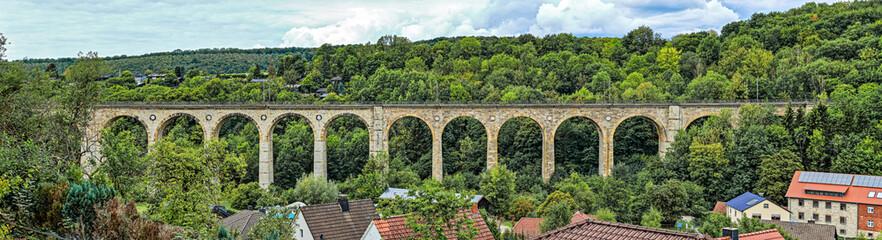 Panorama des großen Viadukt in Altenbeken