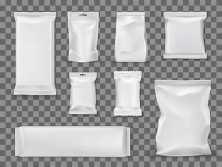 Blank vacuum packages, food snacks void packets