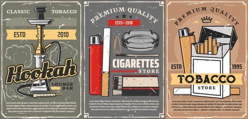Premium quality tobacco, cigarettes store