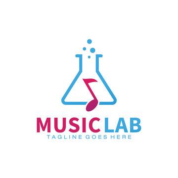 Music Lab logo design template