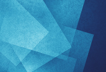 blue and white abstract background with angled blocks, squares, diamonds, rectangle and triangle shapes layered in abstract  modern art style background pattern, textured background Wall mural
