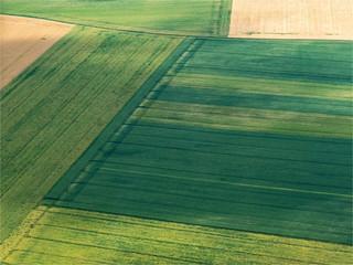 vue aérienne de champs près d'Escorpain dans l'Eure-et-Loir en France Wall mural