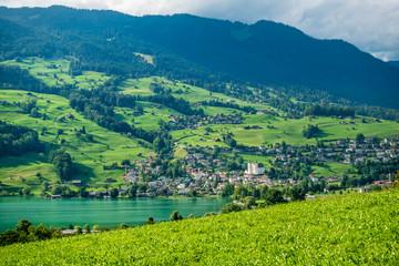 Blick auf Sarnen, Kantonshauptstadt von Obwalden