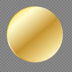 Gold seal. Vector