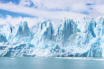 Beautiful shot of icebergs in glacier Perito Moreno, in Patagonia, Argentina