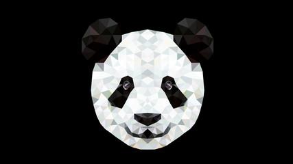 Geometric Animal - Panda Wallpaper