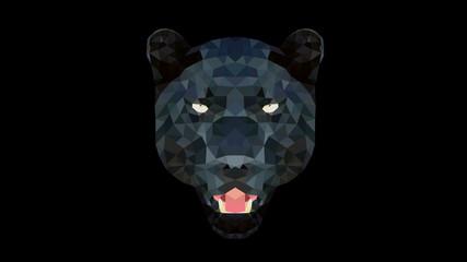 Geometric Animal - Panther Wallpaper