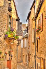Papiers peints Ruelle etroite Sarlat-la-Canéda, Dordogne, France