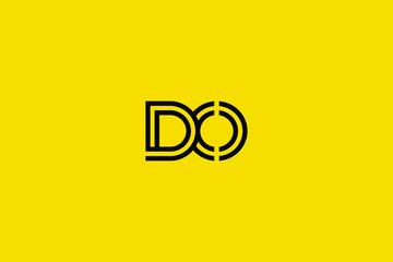 Initial based clean and minimal Logo. DO OD D O letter creative technology monogram icon symbol. Universal elegant luxury alphabet vector design