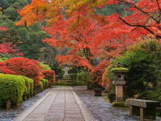 那谷寺と紅葉 Natadera and Autumn leaves 石川県小松市 Isikawa Wall mural