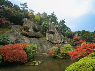 那谷寺と紅葉 Natadera and Autumn leaves 石川県小松市 Isikawa