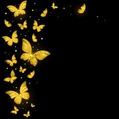 Shiny Decorative Golden Butterflies