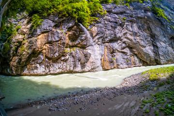 Erosion auch in den Zuläufen der Aareschlucht