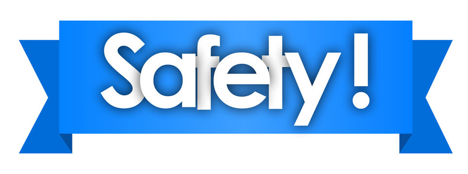 safety in blue ribbon background