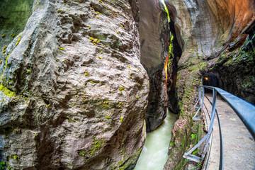 Klammcharakter der Aareschlucht in der Schweiz