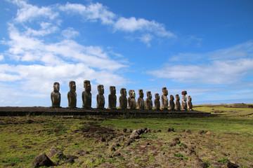 Moai- Osterinsel- Ahu Tongariki