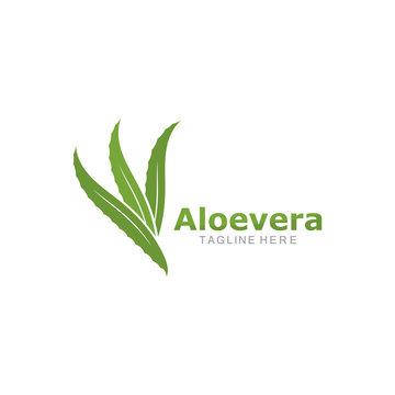Set of aloevera logo template vector icon