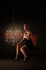 Romantische Stimmung im Kerzenlicht