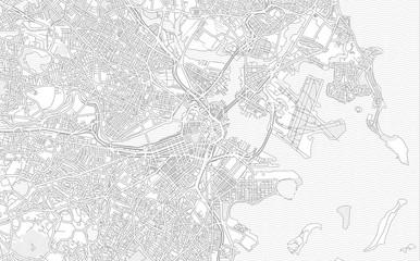 Boston, Massachusetts, USA, bright outlined vector map