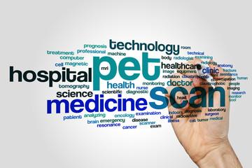 PET scan word cloud