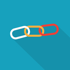 colorful chain link icon- vector illustration