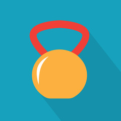 colorful kettlebell icon- vector illustration