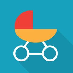 baby stroller icon- vector illustration