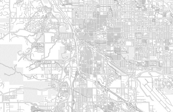 Tucson, Arizona, USA, bright outlined vector map
