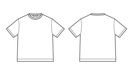 blank tshirt design template Wall mural