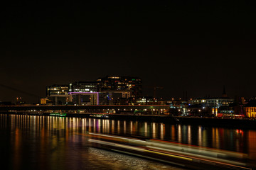 Cologne a city on the Rhine at night as a skyline