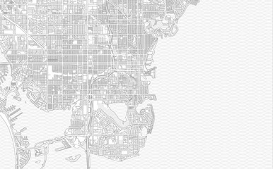 St. Petersburg, Florida, USA, bright outlined vector map