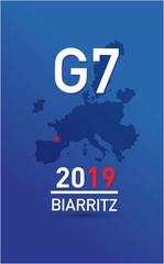 Reunion du G7 à Biarritz le 24 aout 2019 en France