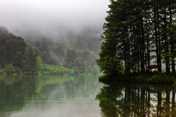 Misty Dark Lake