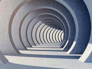 Modern concrete tunnel Fototapete