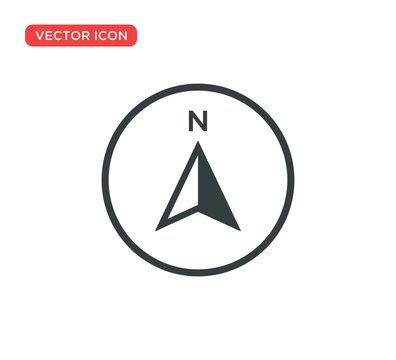 Arrow Compass Icon Vector Illustration Design