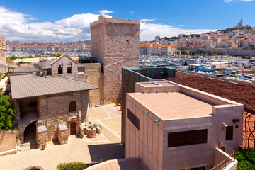 Marseilles. View of the fort of St. John and the harbor.