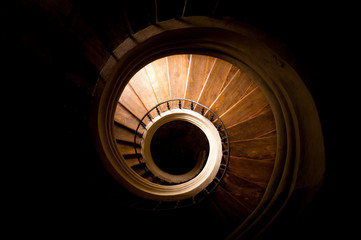 Papiers peints Spirale Gothic staircase in medieval church. Spiral stairs.