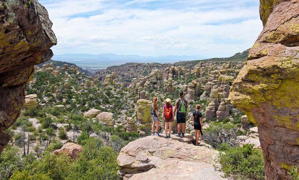 A Family at the Chiricahua National Monument, AZ, USA