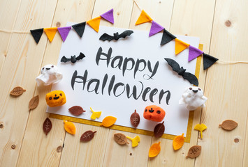Handmade,  handwriting Happy Halloween image.(27-1)